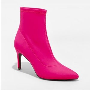 Women's a new day Pink Cady Stiletto Booties 7.5M